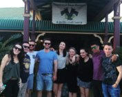 Group on a full day Brisbane beer tour at Bearded Dragon Mount Tamborine
