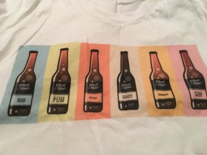 Black Hops tee with bottles