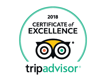 TripAdvisor Certificate of Excellence 2018 for Hop On Brewery Tours