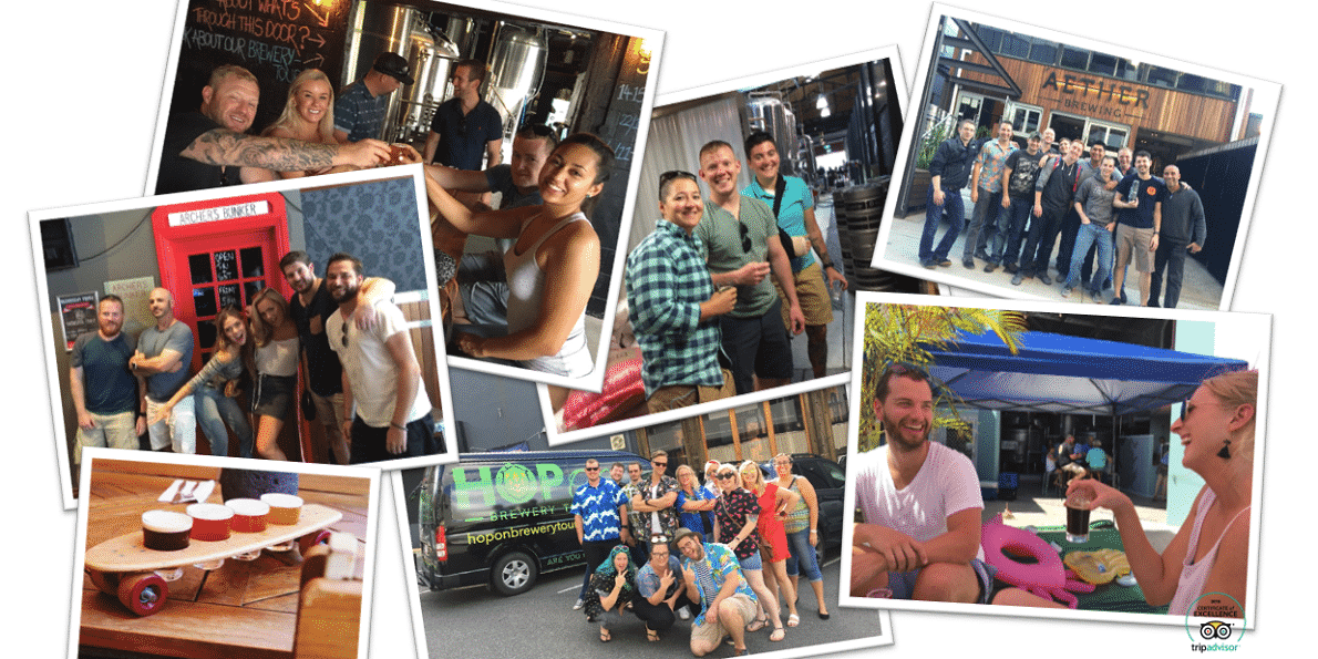 Polariod Style Images from Hop On Brewery Tours