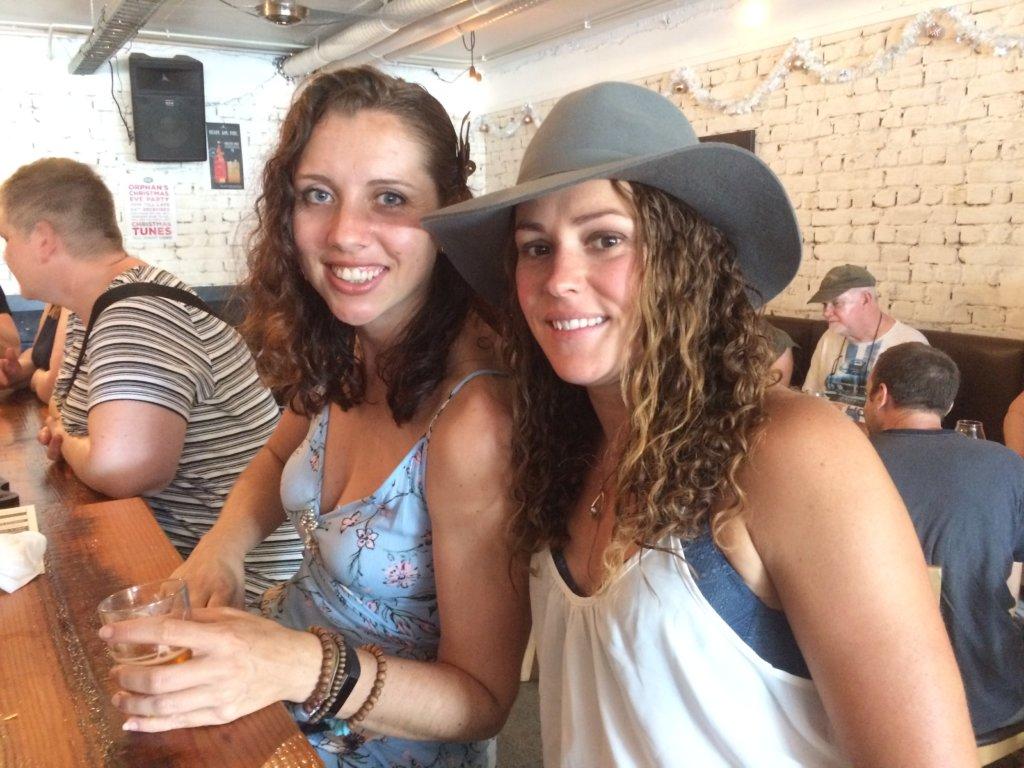 Enjoying beers at Bine