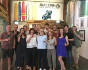 Group brewery tour at Burleigh Brewing Co