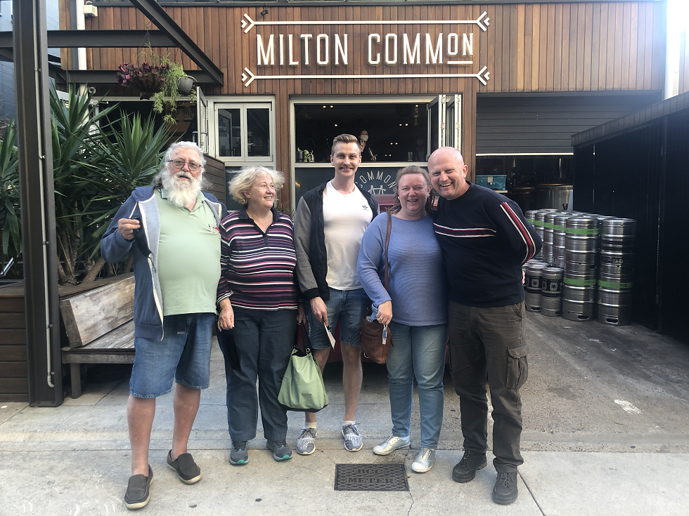 Group at Milton Common for a Western Explorer full day brewery tour