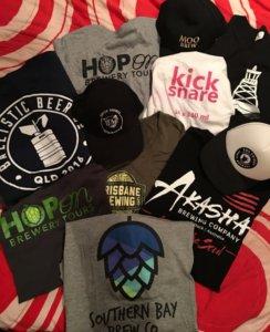 beer tshirts and hats