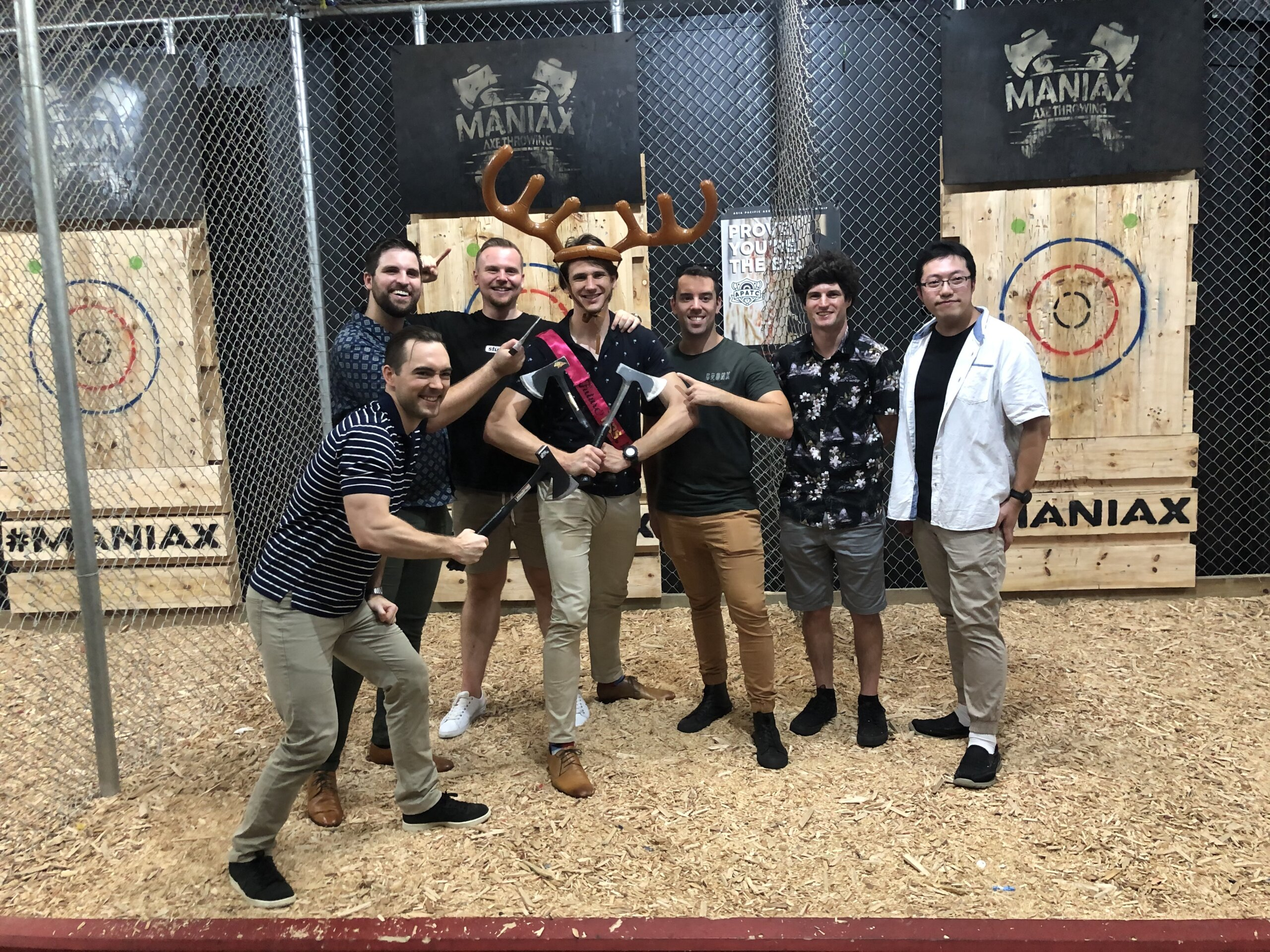 Hop On Brewery Tours Brisbane Brewery Tour at Maniax Axe Throwing on a Hatchets & Hops Tour