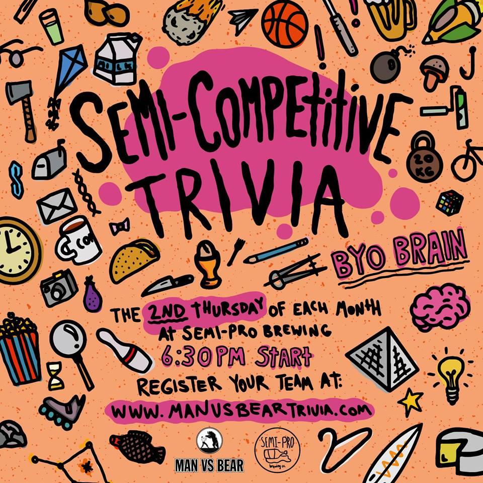 semi-competitive trivia at semi-pro