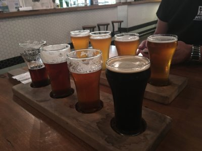 Tasting Paddles at Foghorn Brewing
