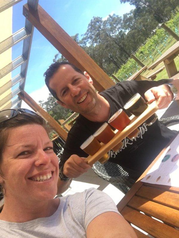 Jos and Matt at IronBark Hill