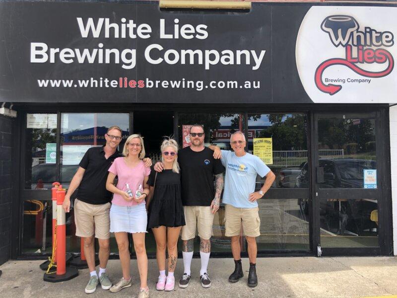 Enjoying drinks at White Lies